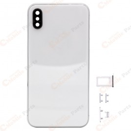 iPhone X Back Housing with Camera Lens - Silver