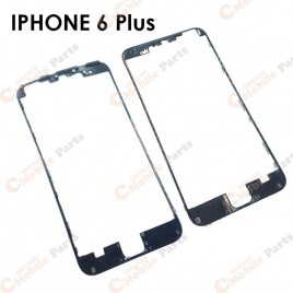 Black Front Middle Frame /w Glue for iPhone 6 Plus (x2)