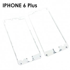 White Front Middle Frame /w Glue for iPhone 6 Plus (x2)