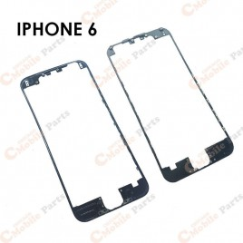 Black Front Middle Frame W/ Glue for iPhone 6 (x10)